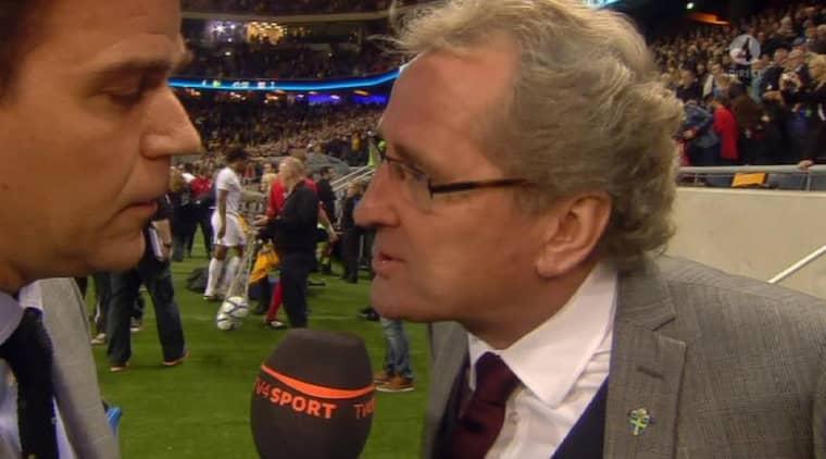 Erik Hamrén tände till i intervjun efter matchen.