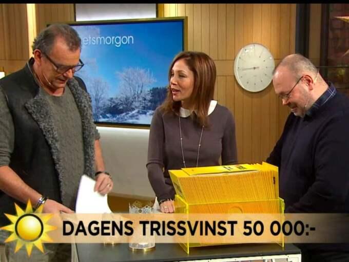 """""""Allt var nytt och pirrigt, med tv och förberedande och allt det där"""", säger Peter efter vinsten. Foto: TV4."""