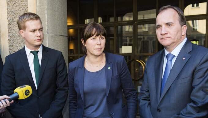 Fridolin, Romson och Löfven tappar väljare. Foto: Alexander Donka