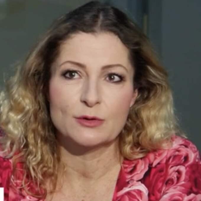 Katerina Janouch blev intervjuad i tjeckisk tv om flyktingsituationen i Sverige.