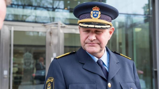 Högste polischefen Dan Eliasson. Foto: Pelle T Nilsson/IBL
