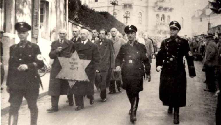 Kristallnatten 1938. Foto: Yad Vashem