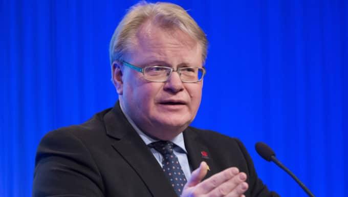 Detta efter att Peter Hultqvist gick till angrepp mot myter som sprids om Sveriges avtal med Nato. Foto: Sven Lindwall