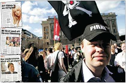 """""""RÄTTEN TILL ETT PRIVATLIV."""" """"Det vi pirater pratar om är vikten av rätten till ett privatliv och hur upphovsrättsmonopolet hotar vårt samhälles demokratiska grundpelare"""", säger Rick Falkvinge, ledare för piratpartiet. Foto: JÖRGEN HILDEBRANDT"""
