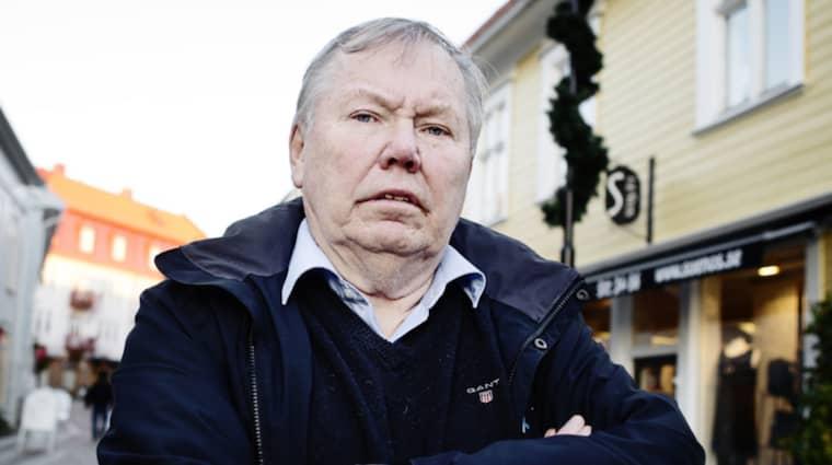 Bert Karlsson stäms efter ett bråk på ett boende i Knäred. Foto: Anna Svanberg
