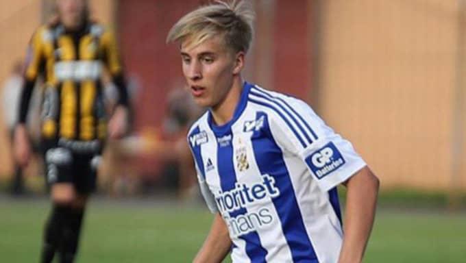 Oskar Jansson, 17, kan debutera i Blåvitt på lördagen. Foto: Privat