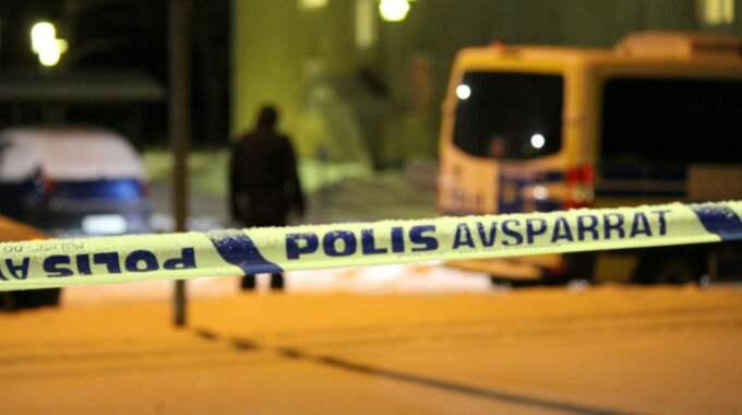 En man sitter anhållen efter knivmordet i Ljusne. Foto: Roger Nilsson/112MEDIA