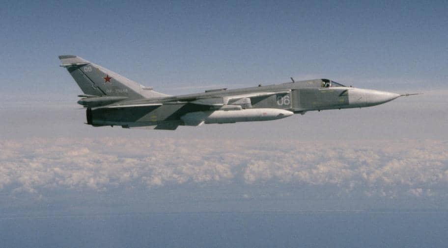 SU 24 är ett ryskt attackflygplan. Foto: Försvarsmakten