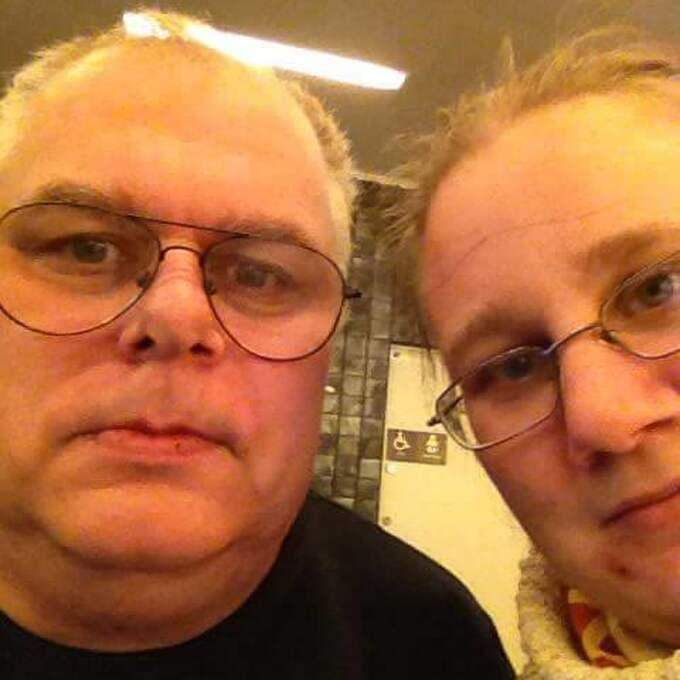 Palle och Anna tillsammans på sjukhuset. Foto: Privat