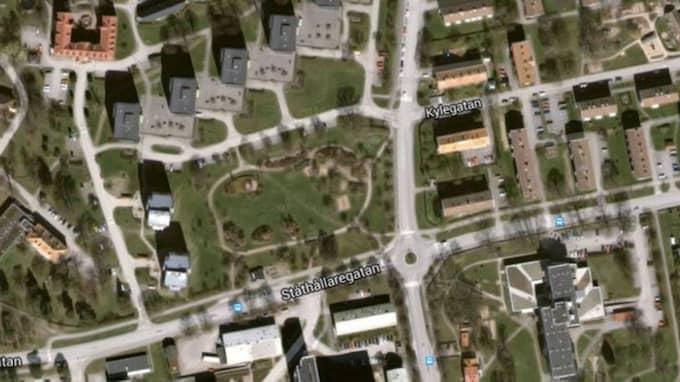 I det här området i Kalmar skedde överfallet.
