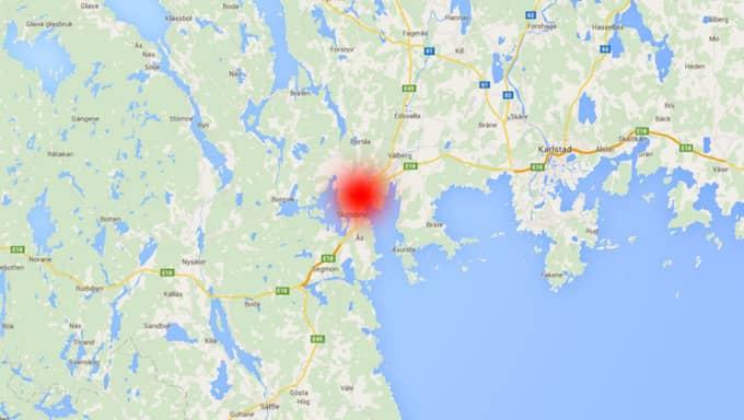 Olyckan inträffade i Grums. Foto: Googlemaps