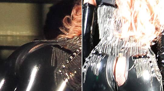 Lady Gagas byxor sprack när hon stod på scenen i Vancouver. Foto: ALL OVER PRESS