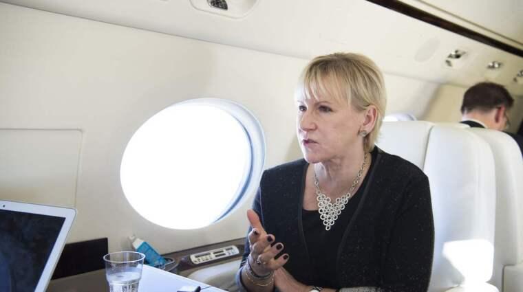 Nu svarar utrikesminister Margot Wallström på kritiken från Israel. Foto: Sven Lindwall