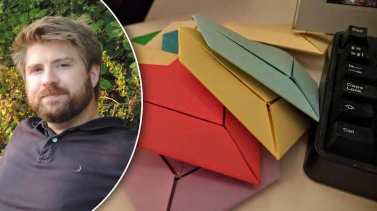 Många hjärtan blir det, förhoppningsvis! Men Ulrik Mikaelsson lär behöva donationer för framtida portokostnader.