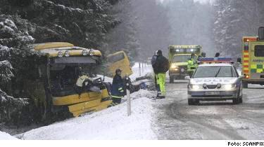 Minst sex personer dog och upp till tolv personer skadades när två linjebussar kolliderade på väg 288 vid Rasbo, nordost om Uppsala.
