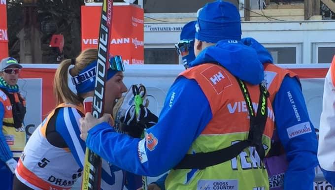 Här brister det för Nousiainen. Foto: Ludvig Holmberg.