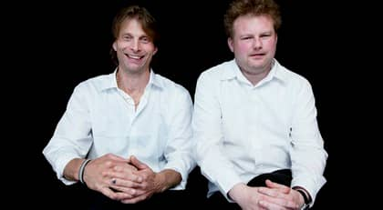 """Ola-Conny Wallgren och Morgan Karlsson från """"Ullared"""". Foto: Olle Sporrong"""