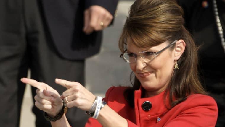 Sarah Palin gjorde sig känd som en taleskvinna för Tea Party-rörelsen inför det amerikanska presidentvalet 2008. Nu stödjer hon Donald Trump som republikanernas presidentkandidat. Foto: AP