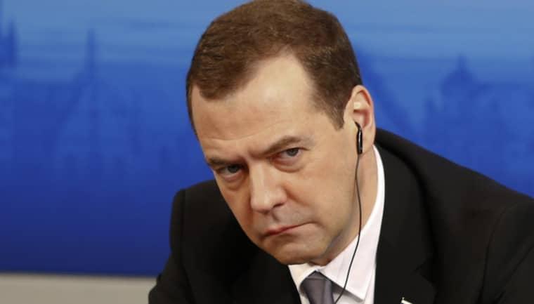 Rysslands premiärminister Dmitrij Medvedev. Foto: Matthias Schrader