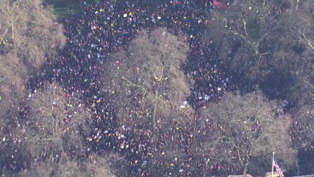 Efter Trumps inträde - miljontals marscherar för kvinnors rättigheter
