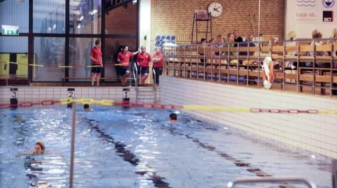 Högevallsbadet i Lund – dock från tiden innan ett äventyrsbad fanns på anläggningen. Foto: Tomas Leprince/Leprince.Se