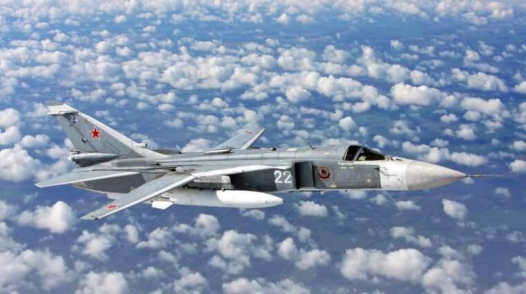 De ryska stridsplanen var av typen Sukhoi SU-24, enligt Expressens uppgifter. Foto: Alexander Mishkin
