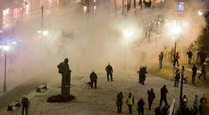 Våldsamma kravaller rasade i Oslo på torsdagskvällen. Foto: Scanpix