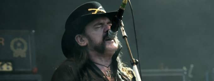 Motörheads frontman Lemmy är sjuk och bandet ställer in samtliga spelningar i sommar. Foto: Ludvig Thunman