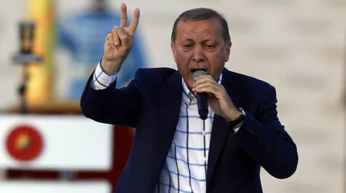 Recep Tayyip Erdogan. Foto: Emrah Gurel / AP TT NYHETSBYRÅN