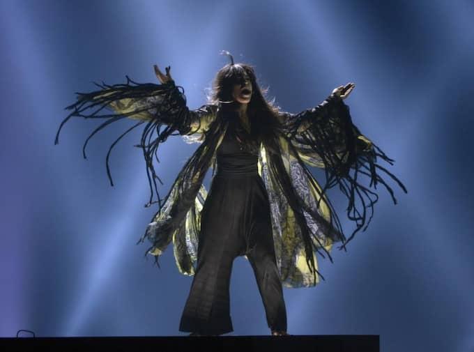 "Loreen under dagens genrep inför torsdagens semifinal i ""Eurovision song contest"". Foto: Jessica Gow / Scanpix"