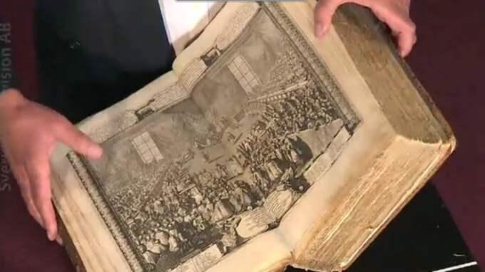 """""""Man kan lugnt säga att det här är en av världslitteraturens historiskt mest betydande biografier"""", säger Torgny Schunnesson. Foto: Faksimil SVT"""