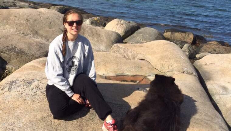 Läkarstudenten Emelie Haagerup skulle resa från Odense till Göteborg för att åka på en resa med familjen. I Helsingör vägrades hon gå ombord på färjan till Helsingborg då hon bara hade danskt ID och passet hemma i Sverige. Foto: Privat