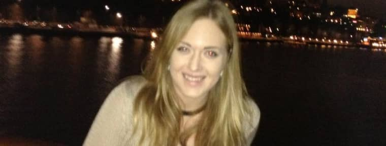 Timmar efter att bilden togs försvann Sarah Lagerström, 22, på Birka Paradise. Foto: Privat