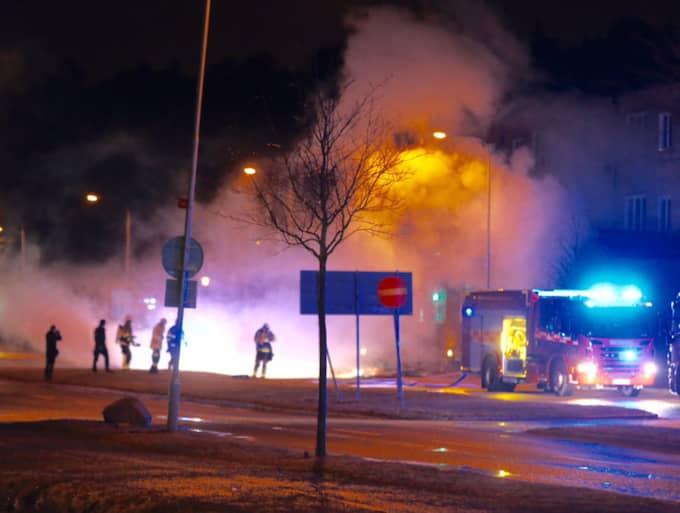 En explosion skedde i Enskede i Stockholm Foto: Janne Åkesson/SWEPIX