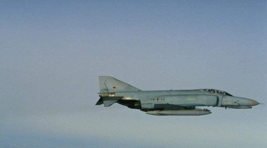 F4-Phantom är ett amerikansktillverkat stridsflygplan. Flygplanet på bilden tillhör den tyska försvarsmakten. Foto: Försvarsmakten