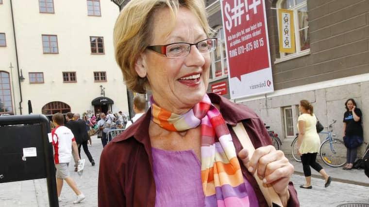 Fi:s talesperson Gudrun Schyman öppnar för samarbete med Folkpartiet. Foto: Cornelia Nordström