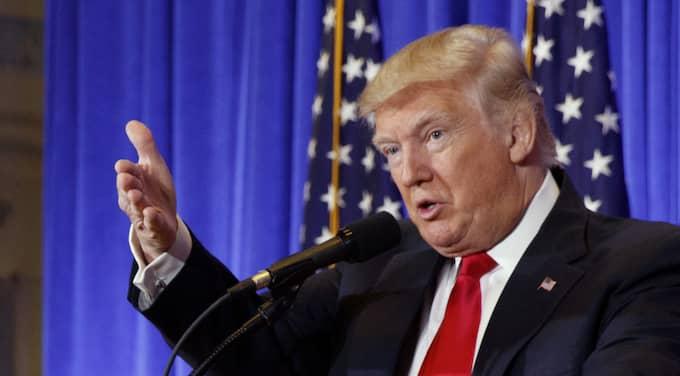 Donald Trump höll presskonferens. Foto: Evan Vucci / AP TT NYHETSBYRÅN
