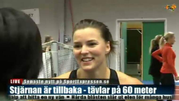 Sanna Kallur efter comebacken Foto: Expressen TV