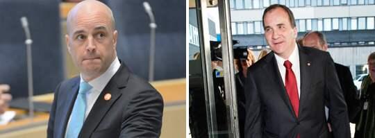 """""""SIFFERTRICKSANDE"""". """"Sverige behöver nya skarpa förslag för fler i sysselsättning, inte nya sätt att siffertricksa"""", säger Stefan Löfven om Fredrik Reinfeldts påstående i talarstolen. Foto: OLLE SPORRONG"""