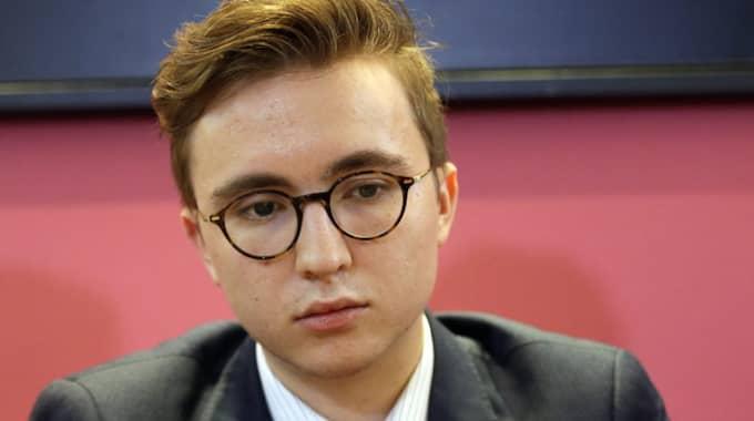 Anatoly Litvinenko, son till Alexandr Litvinenko under en presskonferens i London. Foto: Matt Dunham