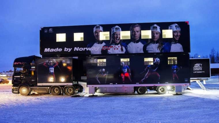 Norges vallabuss på plats i Falun. Foto: Nils Petter Nilsson