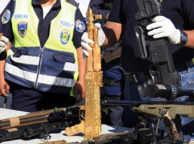 Vapnet var ett av 32 som hittades vid tillslaget i Honduras.