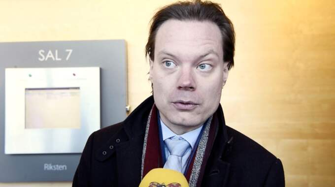 Rättegången mot Martin Kinnunen inleddes på tisdagen. Han står åtalad för grovt skattebrott och grovt bokföringsbrott Foto: Sven Lindwall