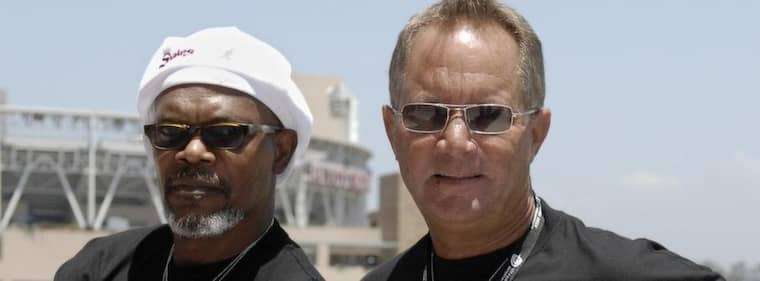 """Samuel L. Jackson och David R. Ellis på en bild från 2006 när medverkade på Comic-Con i San Diego för att göra promotion för """"Snakes on a plane"""". Foto: Chris Park"""