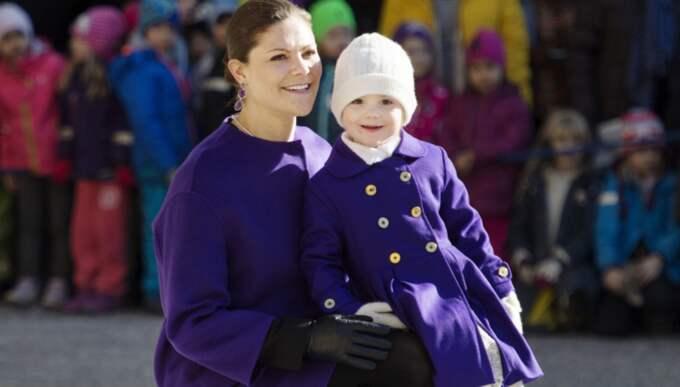 Namnsdagsfirandet är en tradition, men i år ställs det in – precis som 2012 då Estelle föddes. Foto: Izabelle Nordfjell