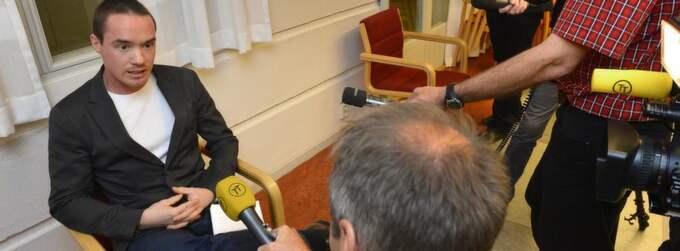 GAV SIN VERSION. Kent Ekeroth ställde bara upp på en intervju i går, med Tidningarnas telegrambyrå. Foto: Anders Wiklund / Scanpix