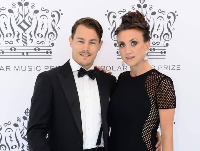 Camilla Läckberg och Simon Sköld ska bli föräldrar. Foto: Maja Suslin/Tt