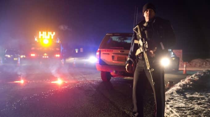 En person dödades och en skadades under polisaktionen. Foto: Dave Killen