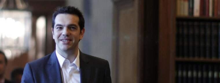 Vänsterledaren Alexis Tsipras vill riva upp besparingsavtalet med EU. Foto: Kostas Tsironis