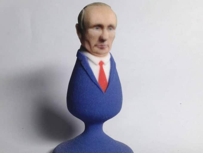 Den amerikanska förlagan som inte är funktionell. Niklas Dahlqvist och gay.se hoppas att intäkterna från deras egen, fungerande, buttplug ska hjälpa till att stötta homosexuella i Ryssland. Foto: politicalsculptor.com